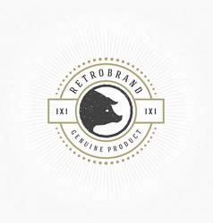 Butcher shop design element in vintage style for vector