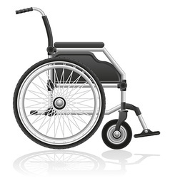 Wheelchair 01 vector