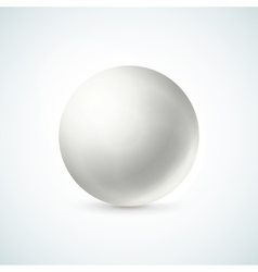 White glossy sphere isolated on white vector image