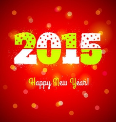 2015 and lights vector image vector image