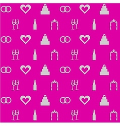 Pink background for wedding vector