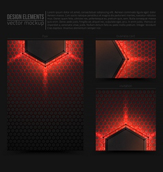 Design elements template vector