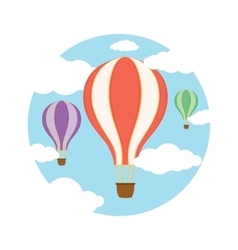 Air balloons in the sky vector