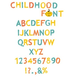 Stylized paint-like alphabets vector