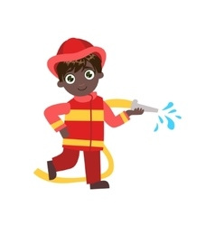 Boy future fireman vector