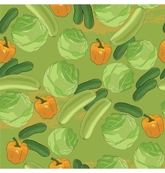 vegetables seamless pattern Hand drawn with vector image