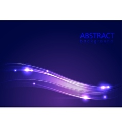 Abstract blue background with lights vector image vector image
