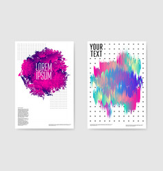 abstract poster liquid shapes background vector image