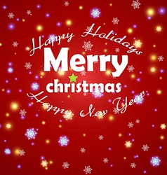 Christmas card 2013 vector image vector image