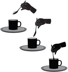 Coffee and sugar vector