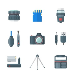 Color flat style isolated digital photography vector