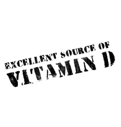 Excellent source of vitamin D stamp vector image