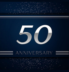 Fifty years anniversary celebration logotype vector