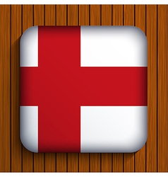 flag icon on wooden background Eps10 vector image vector image