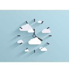 flat clock background Eps10 vector image