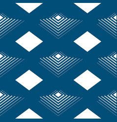 Geometrical seamless pattern line pyramids in the vector