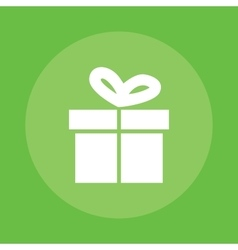 gift box flat object isolated green vector image