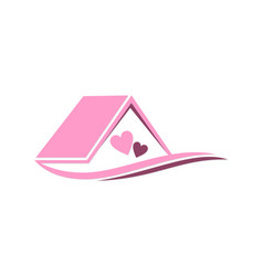 House love couple logo vector