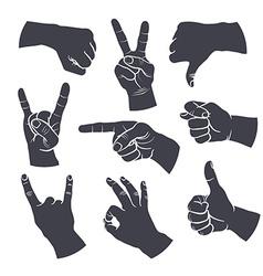 human gestures vector image vector image
