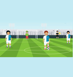 Kids soccer team vector