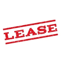 Lease Watermark Stamp vector image