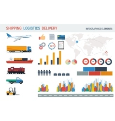 Logistic elements for infographic vector