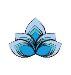Lotus flower symbol vector