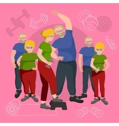 Old People man and woman with different body mass vector image