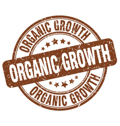organic growth brown grunge stamp vector image vector image