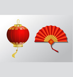 Red chinese traditional paper lantern vector