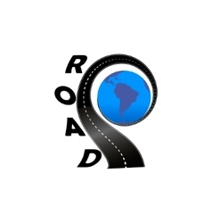 Road with the globe vector image
