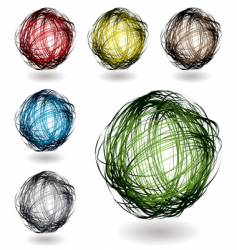 scribble color variation vector image