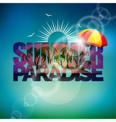 summer holiday with sunshade vector image vector image