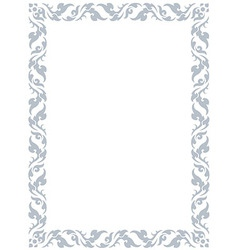 Thai pattern frame vector