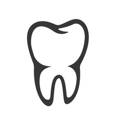 tooth icon isolated on white background vector image vector image