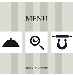 Menu for restaurant vector image