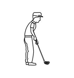 Golf player avatar icon vector