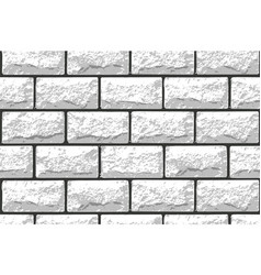 Realistic seamless texture of white brick wall vector
