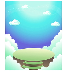 Steps and clouds vector