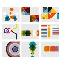 Modern abstract geometrical background templates vector