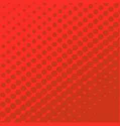 Halftone dots on red background vector