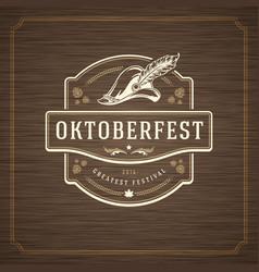 Oktoberfest greeting card or flyer on textured vector
