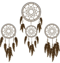 Dream catchers set vector