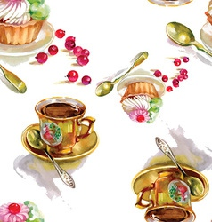 Artistic tea party design vector