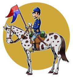 Us cavalry yellow vector