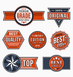 Retro signs vector image