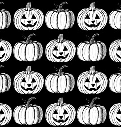 Sketch halloweens pumpkins vector