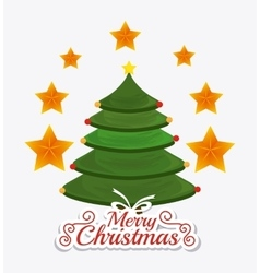 Merry christmas card design vector