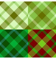 Irish tartan pattern vector image
