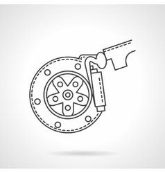 Brake pads flat line icon vector